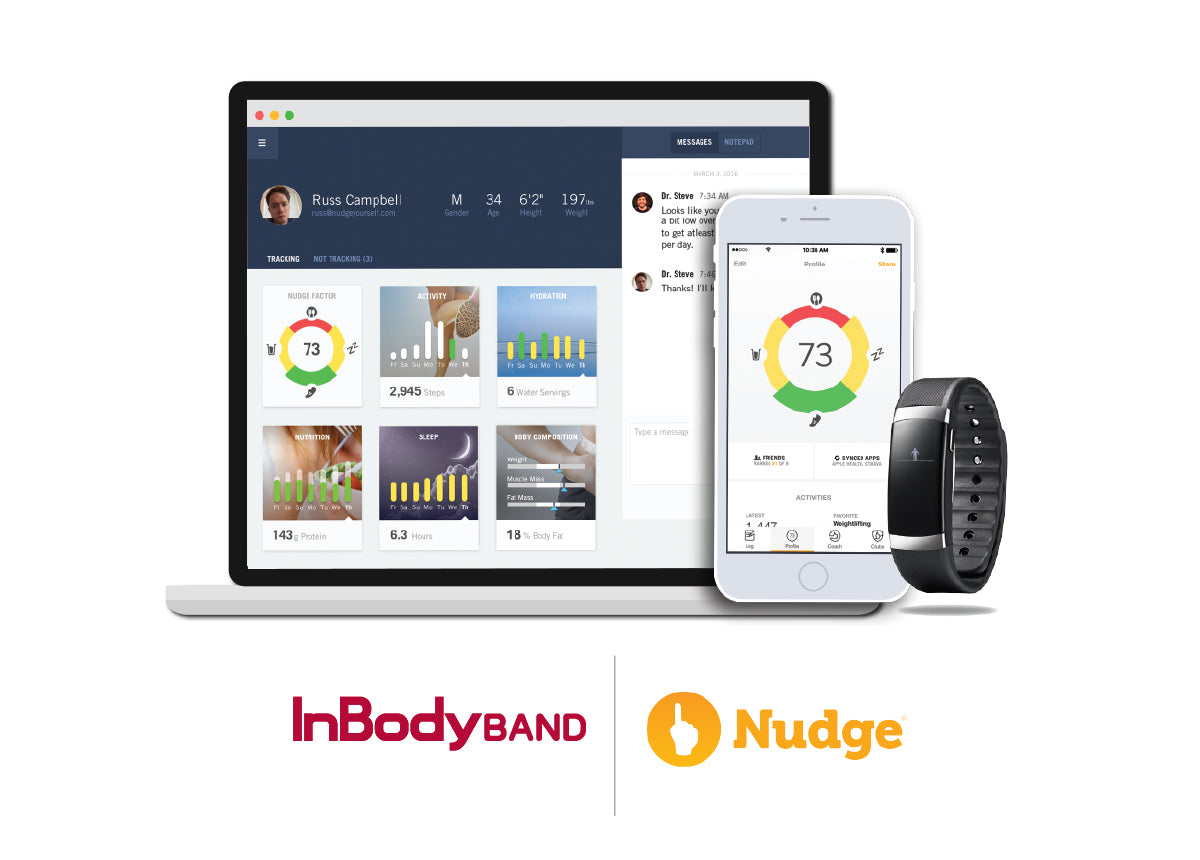 Nudge Partners with InBody, Makes Data From New Wearable Accessible for Health and Fitness Professionals