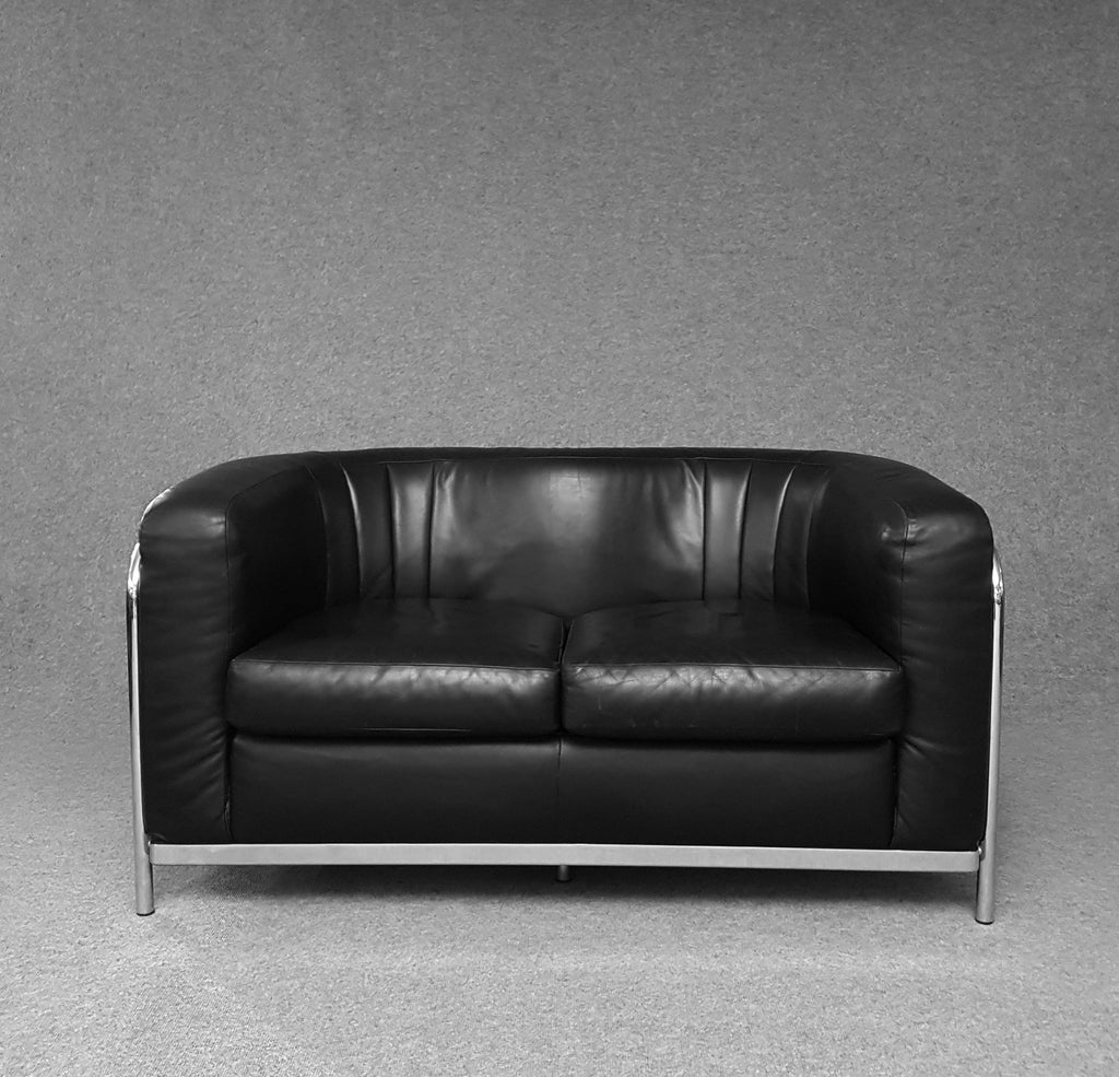 Zanotta - sofa onda - 2 seater - black leather