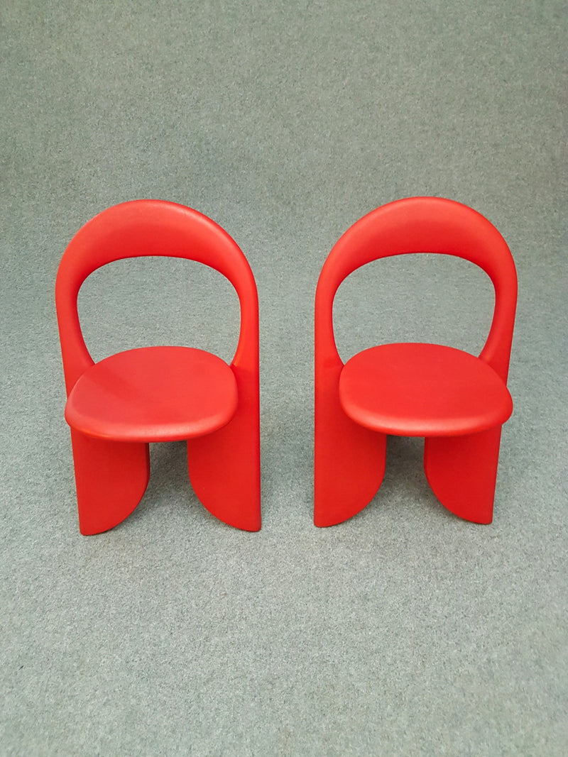Set 2 vintage red folding chairs Filly - Giorgio Gurioli - 1980s
