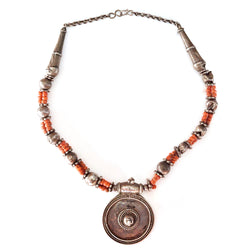 Bull's Eye Coral Necklace