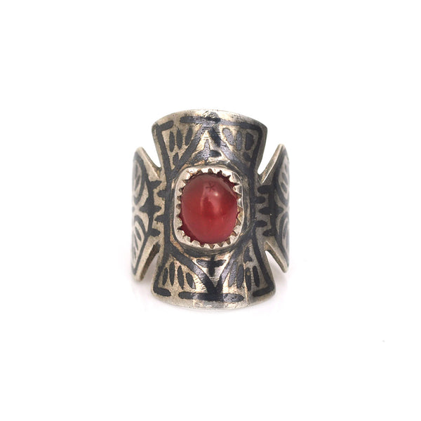 Carnelian Cross Ring
