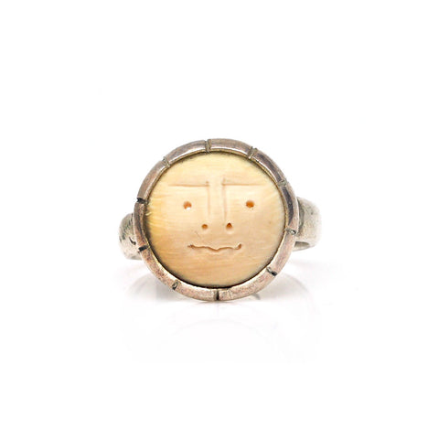 Lou Zeldis Moon Face Ring