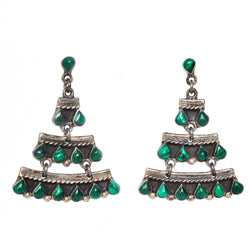 Malachite Cascade Earrings