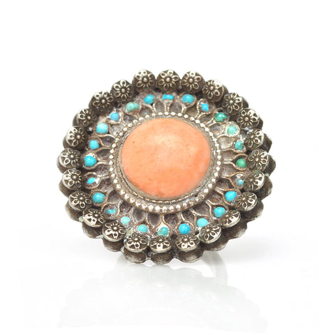 Coral Cocktail Ring
