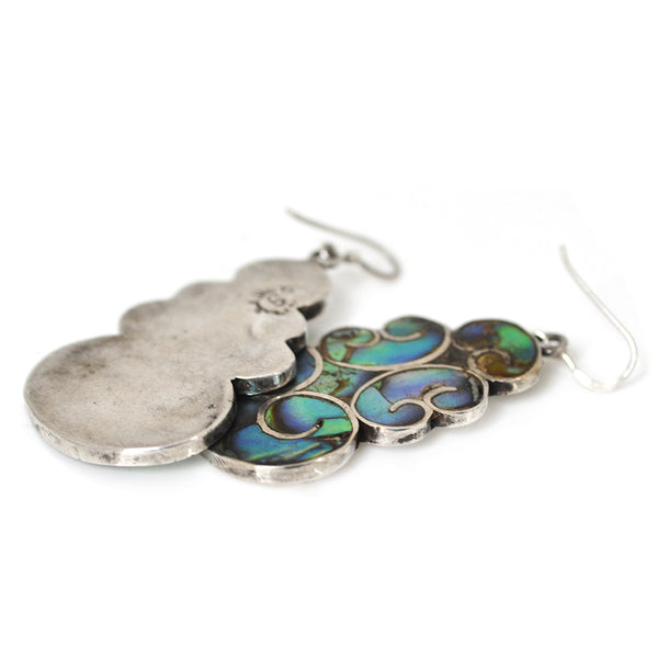 Abalone Cloud Earrings