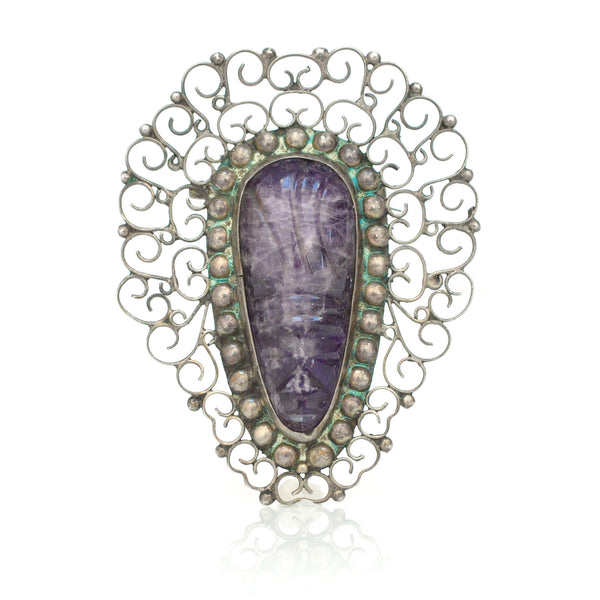Adornment - Amethyst Mask Brooch