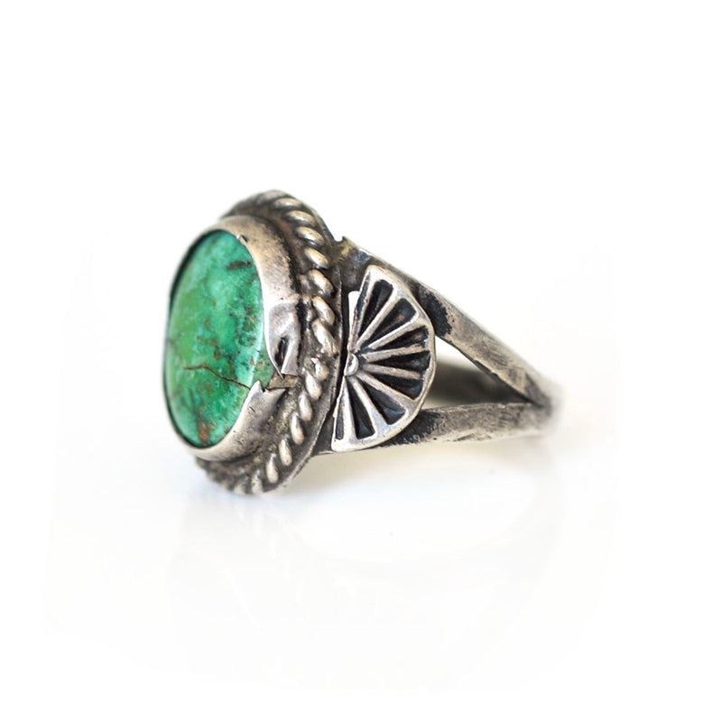 Turquoise Sun Ray Ring