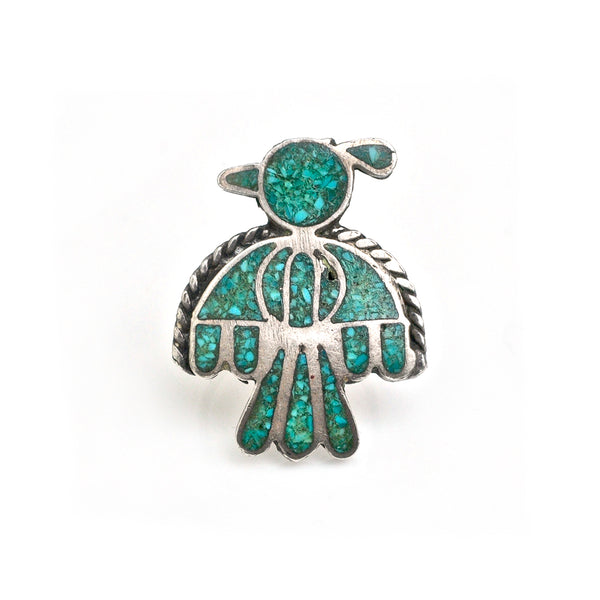 Peyote Bird Pinkie Ring