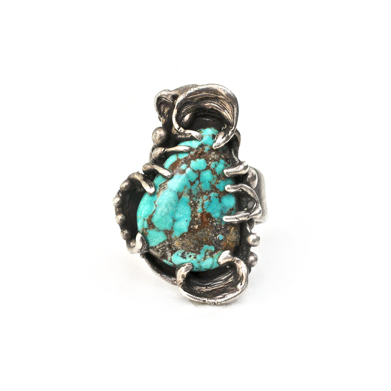 Turquoise Brutalist Ring