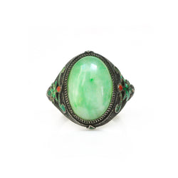 Chinese Jade Grapevine Ring