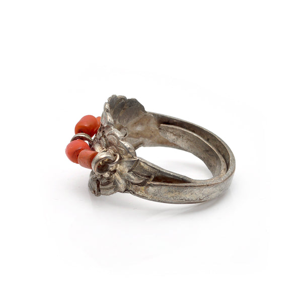 Chinese Coral Flora Ring
