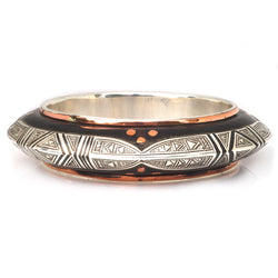 Copper Clover Ebony Bangle