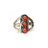 Coral Stoplight Ring
