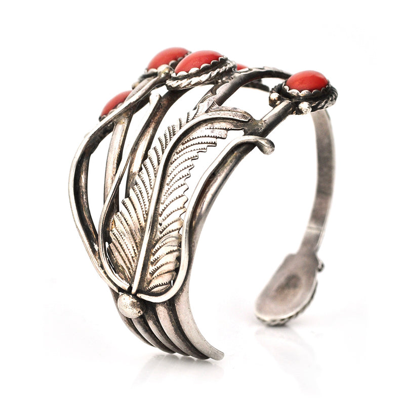 Coral Reed Cuff
