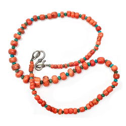 Coral and Turquoise Necklace
