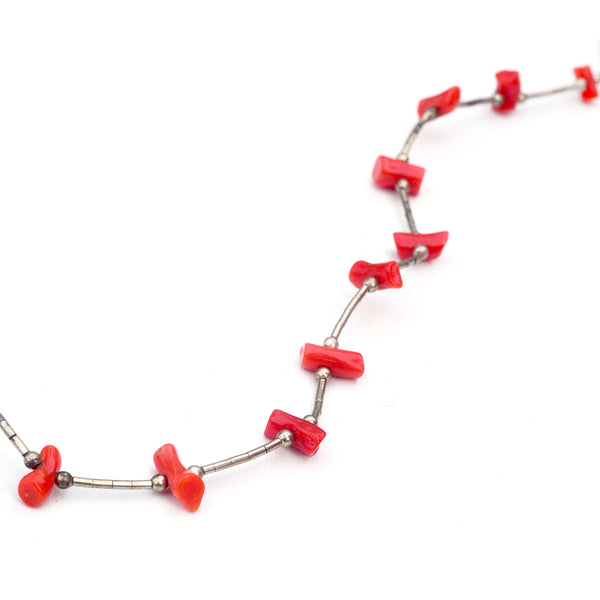 Coral Baby Bead Necklace