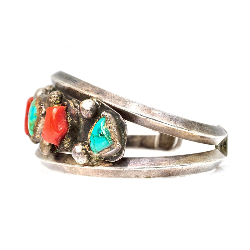 Craggy Coral & Turquoise Cuff