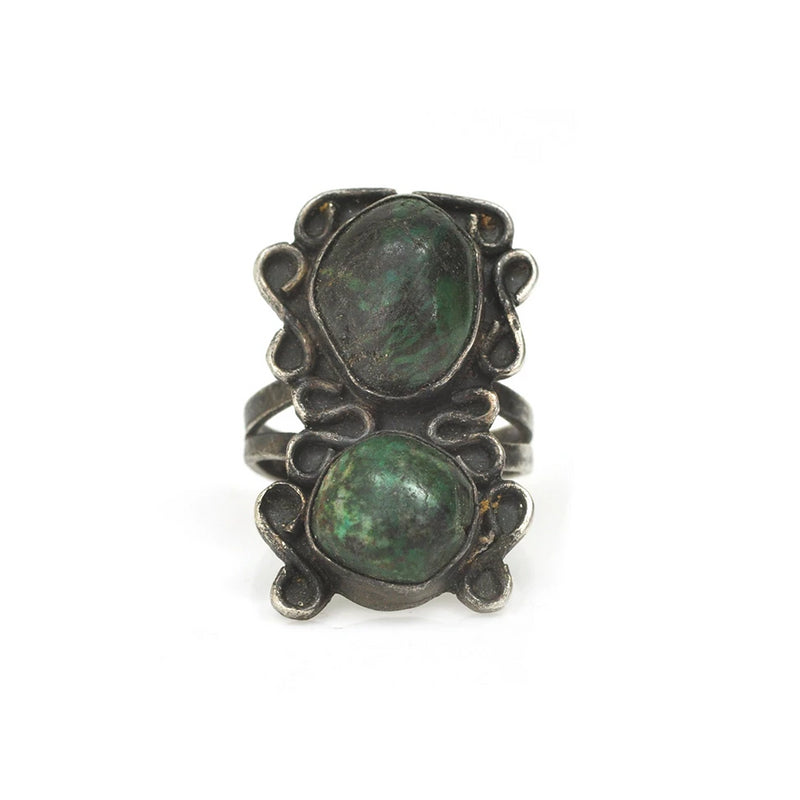 Mossy Green Turquoise Ring