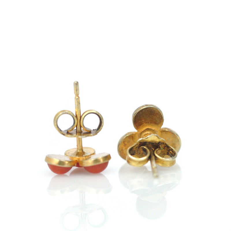 Earrings - Chinese Export Coral Studs