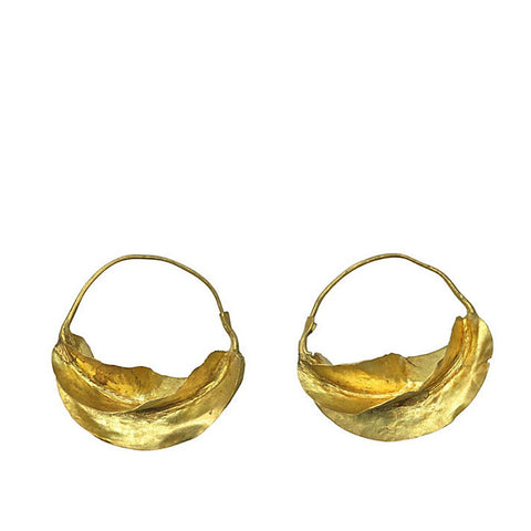 Earrings - Fulani Gold Earrings - Large