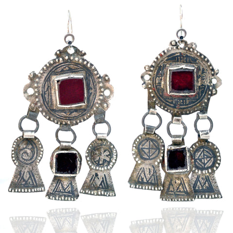 Earrings - Old Berber Glass Earrings