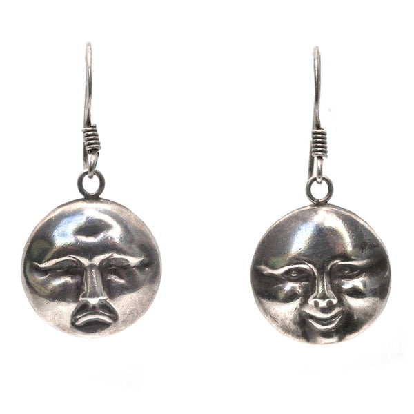 Moon Face Earrings