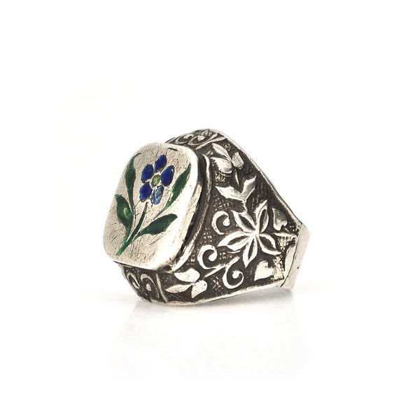 Indian Enamel Flower Ring