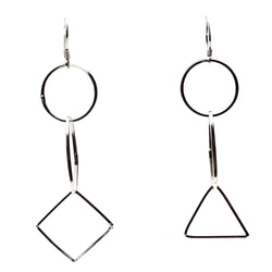 Geometric Dangler Earrings