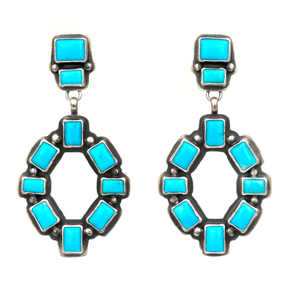 Building Blocks Turquoise Earrings