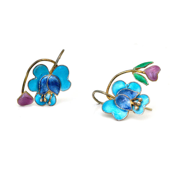 Blue Iris Earrings