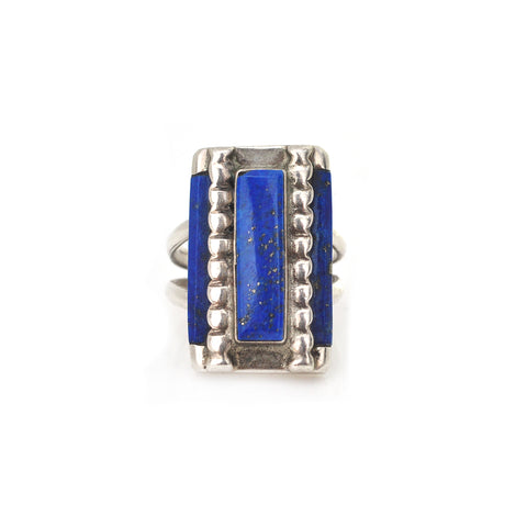 Modernist Lapis Ring
