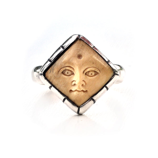 Lou Zeldis Diamond Face Ring