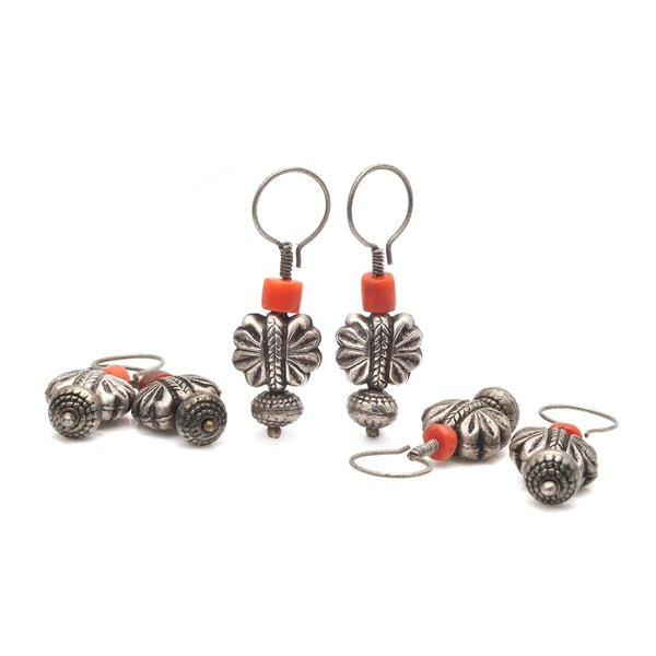 Coral Blossom Earrings