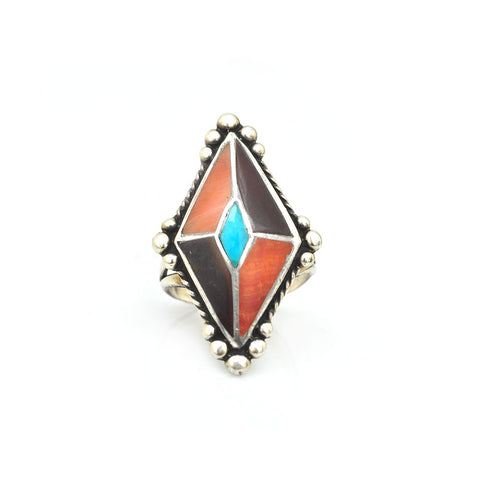 Native Navette Inlay Ring