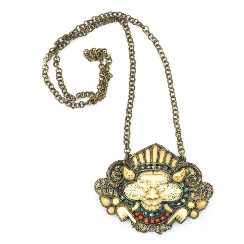 Necklace - Antique Foo Dog Pendant