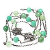 Art Nouveau Jade Necklace