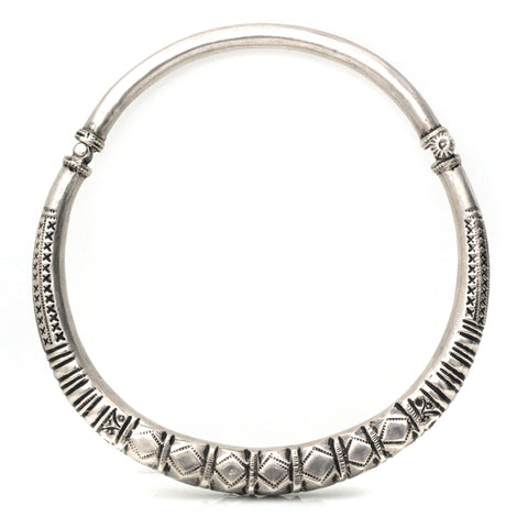 Necklaces - Silver Tribal Collar
