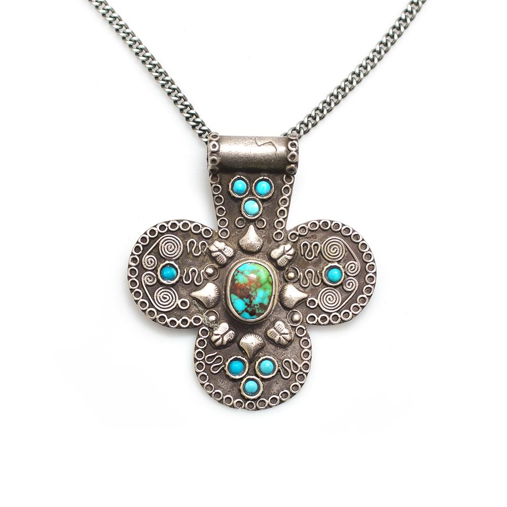 silver turquoise product necklace on big form sterling statement bold