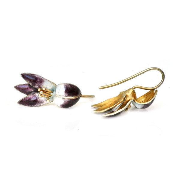Purple Blossom Earrings