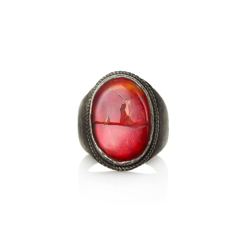 Cracked Carnelian Signet