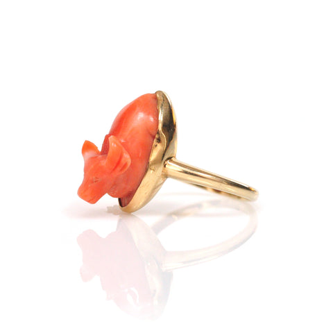 Ring - Coral Ox Ring