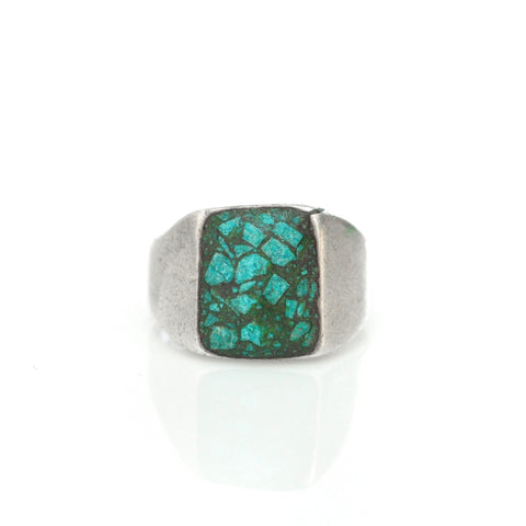 Ring - Turquoise Chip Signet Ring