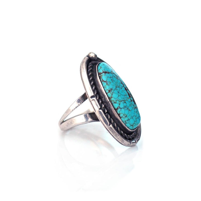 Rings - Crackled Turquoise Ring