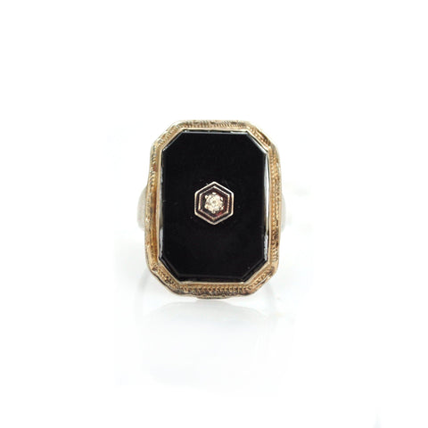 Rings - Deco Diamond Signet