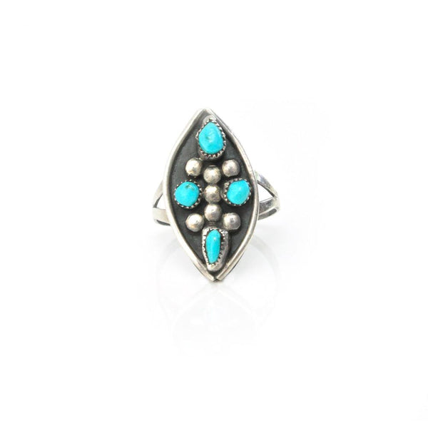 Rings - Four Corners Turquoise Ring