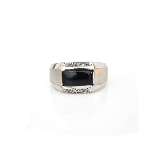 Rings - Onyx & Dimond Ring