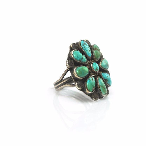Rings - Turquoise Flower Ring