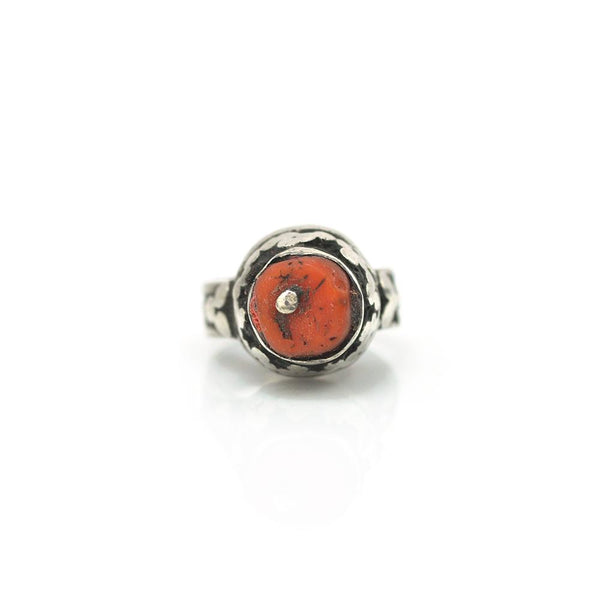 Rings - Yemenite Coral Cushion Ring