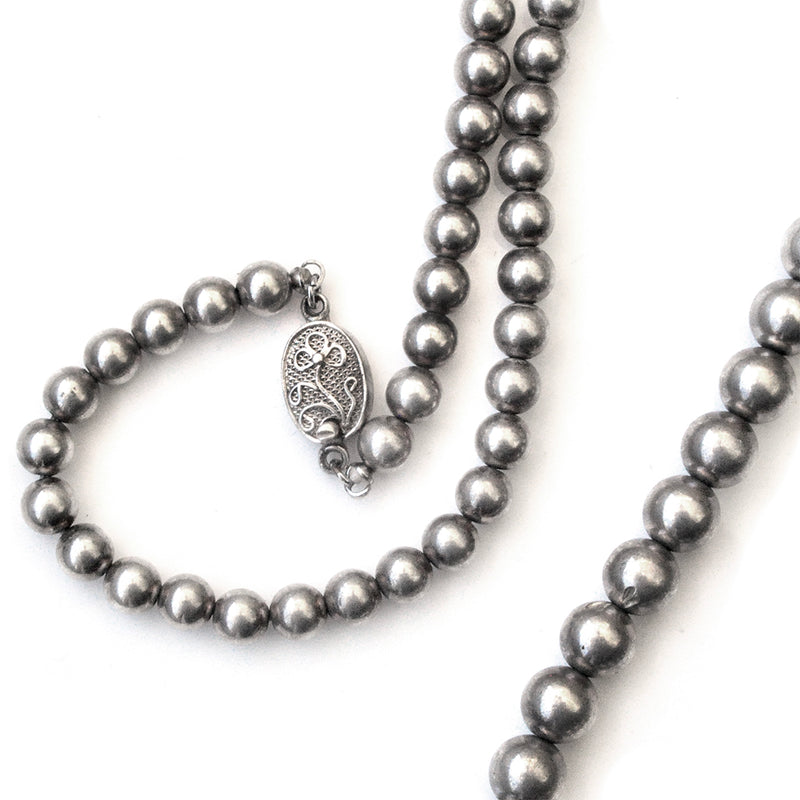 Chinese Graduated Silver Necklace