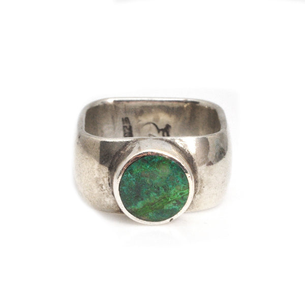 Chrysoprase Square Ring